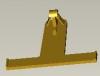 plastic yellow clasp auto plastic parts auto clip