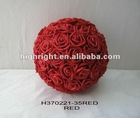 decorative artificial wedding rose ball