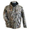 men's camo jacket with paper printed for outdoor sports