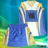 dye sublimation netball dress/skirt/uniform custom