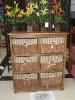 wooden storage cabinet/shelf with bin box