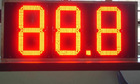 LED oil price placard