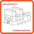 Refractory fused cast AZS blocks for glass furnace