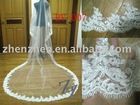 2011 customized real-made one layer, tulle, with lace applique bridal veil RV-007
