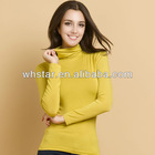 T shirt wholesale china highneck winter T-shirt for women