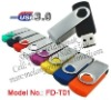 USB3.0 Swivel Twist USB memory stick of 8GB,16GB,32GB,64GB