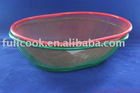 Colorful oval shape food basket, fruit basket, vegetable basket w/stander