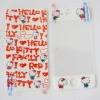 White Hello Kitty Fullbody film Screen Protector For iPhone 4 4S