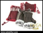 Real fur gloves on hot selling! X'mas gift for your girl! Luxury fur gloves keep warm. Fingerless fur gloves convenient