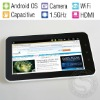 7 Inch Capacitive Screen HD 2160P Tablet PC, 1.5GHz CPU, 512MB Memory, Android 2.3 OS, Built-in camera