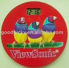 New promotional gifts fridge magnet clock with a bird on