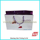 2012 ST cotated paper bags for shopping