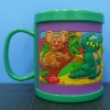 colourful 3D pvc mug
