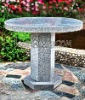 Hand carving stone round table
