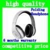 (White)High quality HD Magic Studio Sound Headband type Earphone &Headphone headset