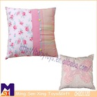 square type cotton plush stuffed lover rose flower cushion