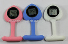 promotional watches Gel Silicone Plastic Pocket Brooch Fob Watch (Ch20214)