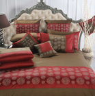 Embroidery bedding sets/brown bed cover bed sheet and red duvet cover sets factory in Shanghai,China