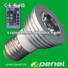 Hot!! GU10 3w RGB led spotlight color changing led lamp