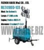 Mobile tower lights powered by Perkins diesel engine