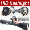 hid flashlight 45W/55W/75W,7500lm,7800mah battery