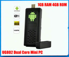 Mini pc Android 4.0 TV Box HDMI Cortex A9 1GB RAM UG802 rk3066 dual core smart tv box