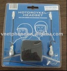 mini wired motorcycle interphone with in-ear headset and mic