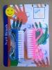 HQ9714 2 PCS PP cosmetic nail brush set,set nail brush made in plastic material