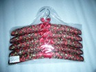 Dark red Cotton-polyester Fabric Clothes Hanger