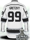 2012 Stanley Cup Patch Kings Jerseys #99 Wayne Gretzky away Authentic ice hockey Sports jersey size 48-56 Wholesale Mixed Order