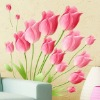 Romantic tulip and removable wall stickers