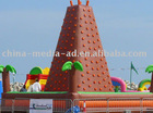 Inflatable rock climbing wall palm tree