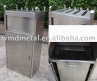 LJX-02 square trashcan,receptacle,dustbin,recycle bin,stainless steel trash can