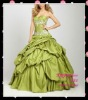 Appliques Green ruffle neck design qq330 mermaid prom dresses