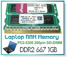 DDR2 667 1GB Laptop RAM Memory