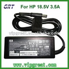 laptop adapter for HP 18.5V 3.5A 7.4*5.0 with pin