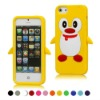 Lovely Penguin Silicone Soft Case Cover For Apple iPhone 5