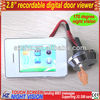 2.8 inch touch screen digital recordable door peephole bell