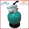 Pool top mount valve sand filter