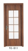 PVC Wooden Glazing Door (YC-011) glass wooden door, classic and high quality