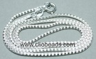 18 Inch Long Sterling Silver Necklace