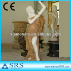 Natural stone carving beautiful woman marble statue