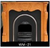 Carving Wooden fireplace mantel for cast iron fireplace (WM-21)