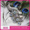 peacock rhinestone brooch