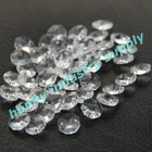 Clear color 14mm size octagon crystal beads