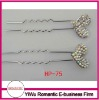 hot sale rhinestone heart lovely hair pin