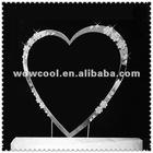 Heart shape rhinestone wedding cake topper