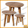 oak end table set