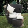 new design outdoor round rattan lounge bed