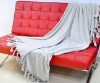 KNITTED BLANKET GREY COLOR BLANKET KING SIZE BLANKET (EV-002-B)